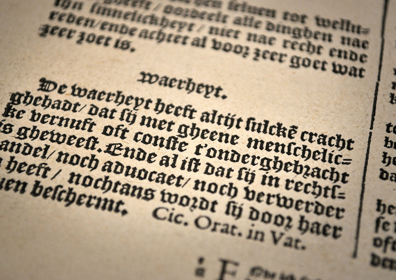 Index sive specimen characterum Christophori Plantini