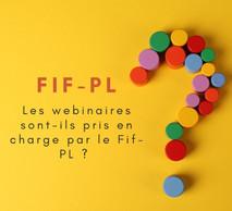 Le Fif-PL ne prend pas en charge les formations initialement prévues en visio, ni les formations de moins de 6 heures.