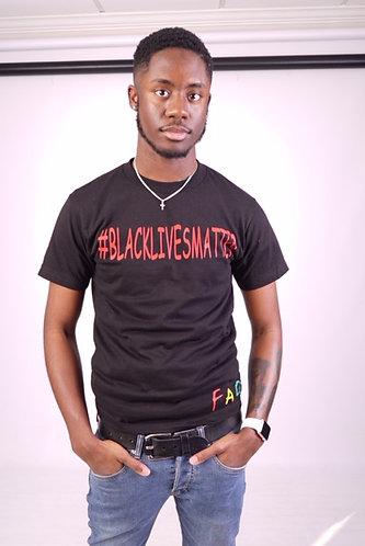 MaleBlack Lives Matter T-shirt