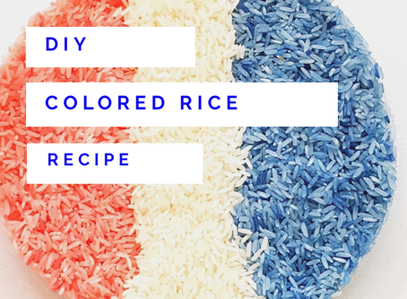 DIY Colored Rice Recipe for Sensory Play