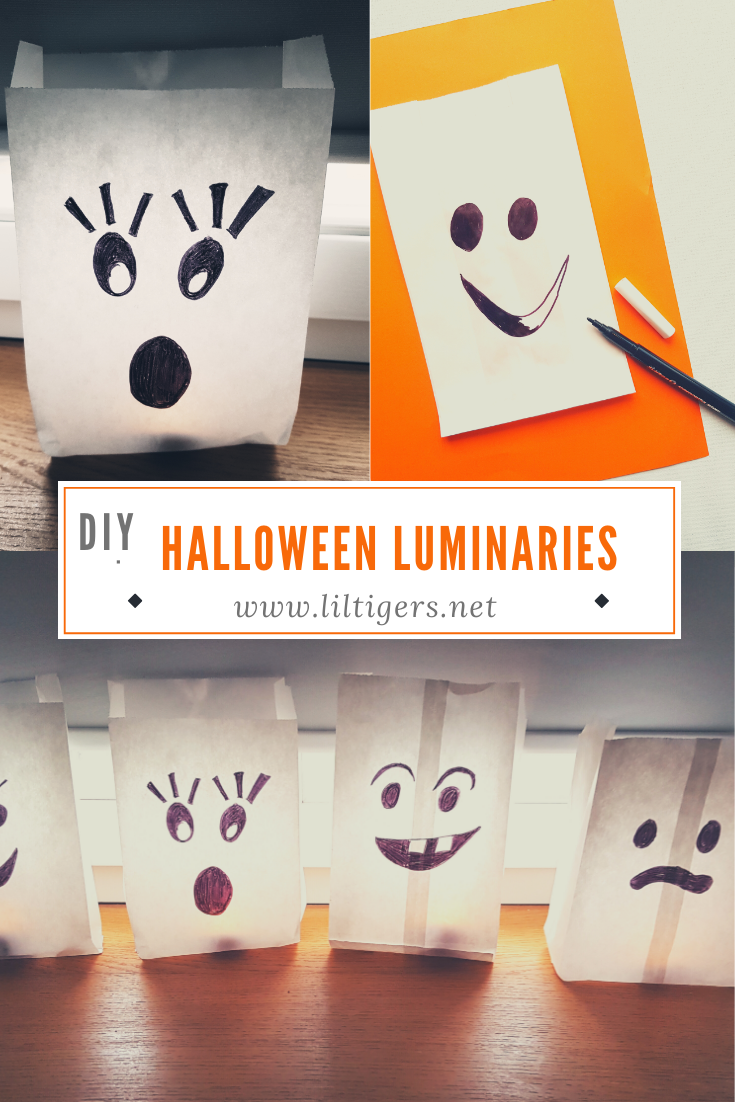 Easy DIY Paper Halloween Luminaries