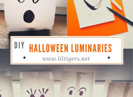 Easy DIY Paper Halloween Luminaries