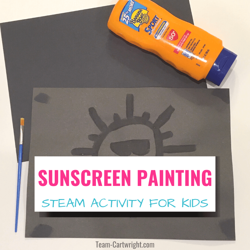 sunscreen paint steam activitiy