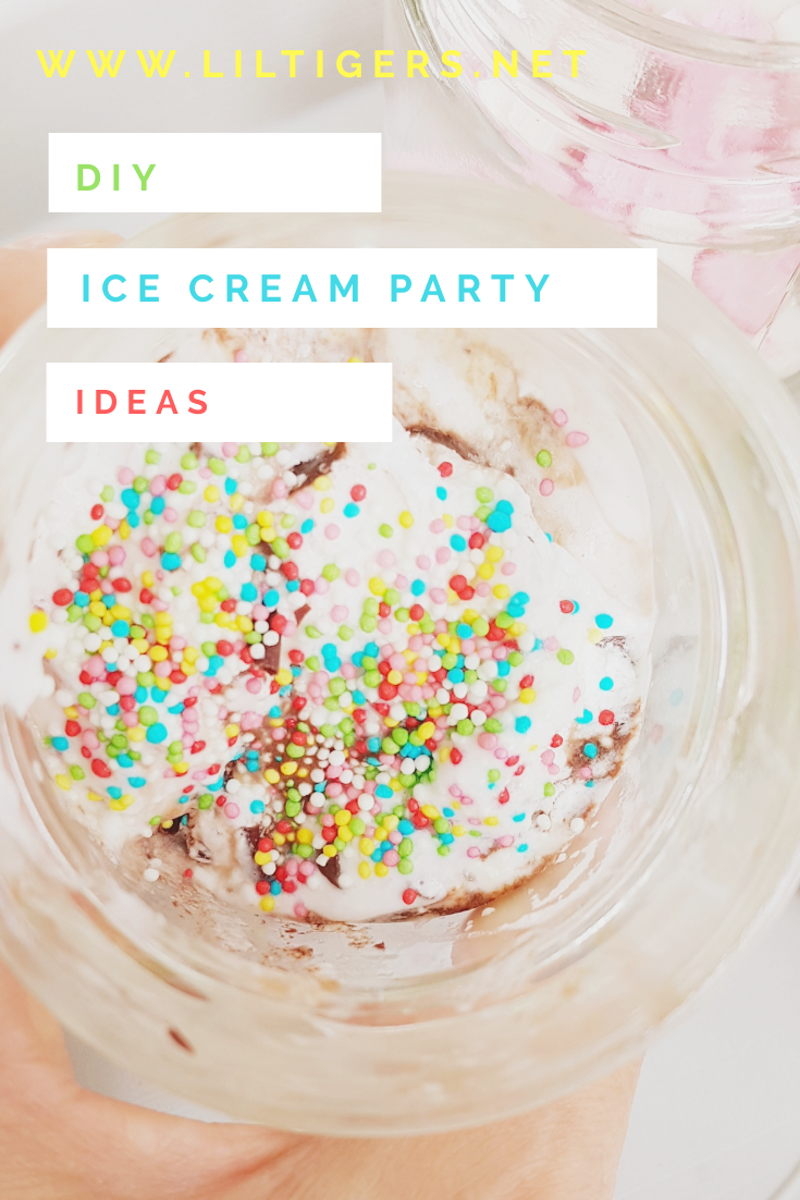 DIY Ice cream party idea
