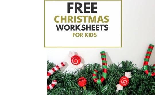 Free Christmas Worksheets For Kids Printable PDF