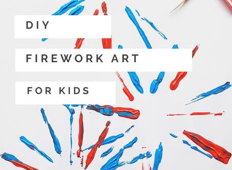 DIY Firework Art for Kids
