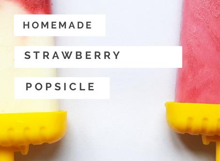 Homemade DIY Strawberry Popsicle Recipe