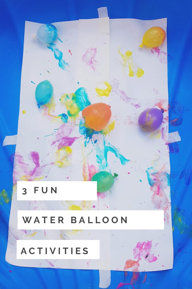 water balloon fun activities
