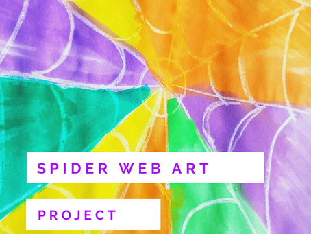 Easy Spider Web Art Project for Toddler and Big  Kids