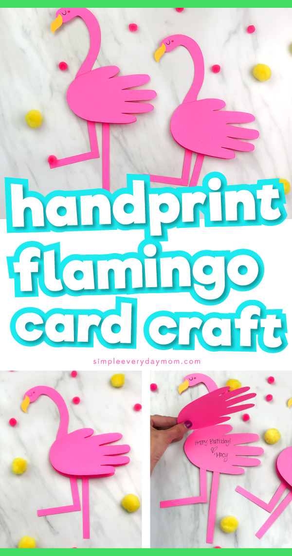 Flamingo card craft for kids