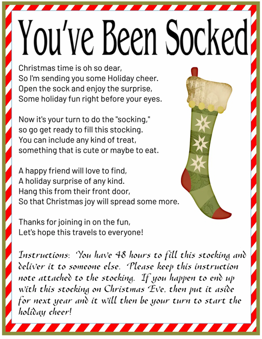 You've Been Socked – A Christmas Game