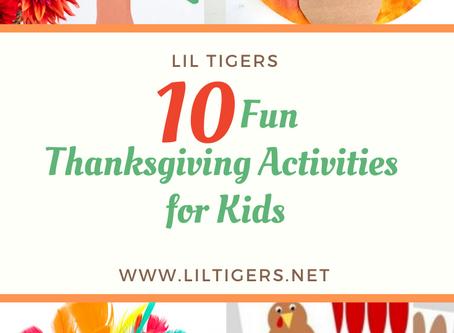 10+ Fun Thanksgiving Activities for Kids