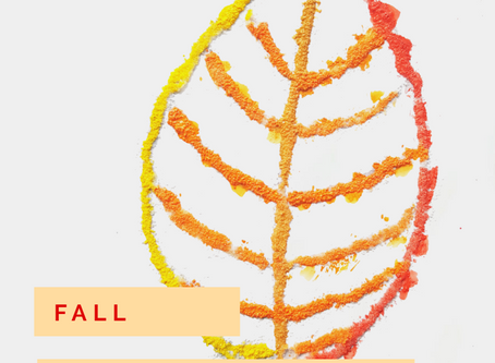 Fall Salt Painting for Kids