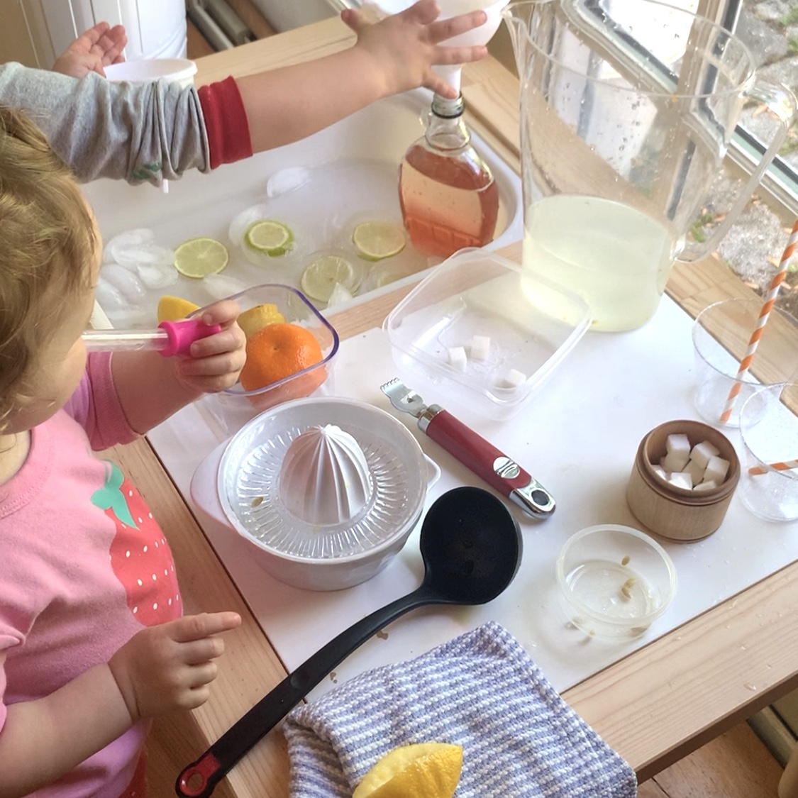 Lemonade sensory play