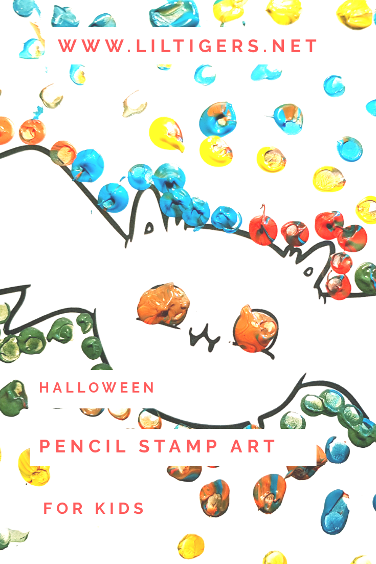 Halloween Pencil Stamp Art for Kids