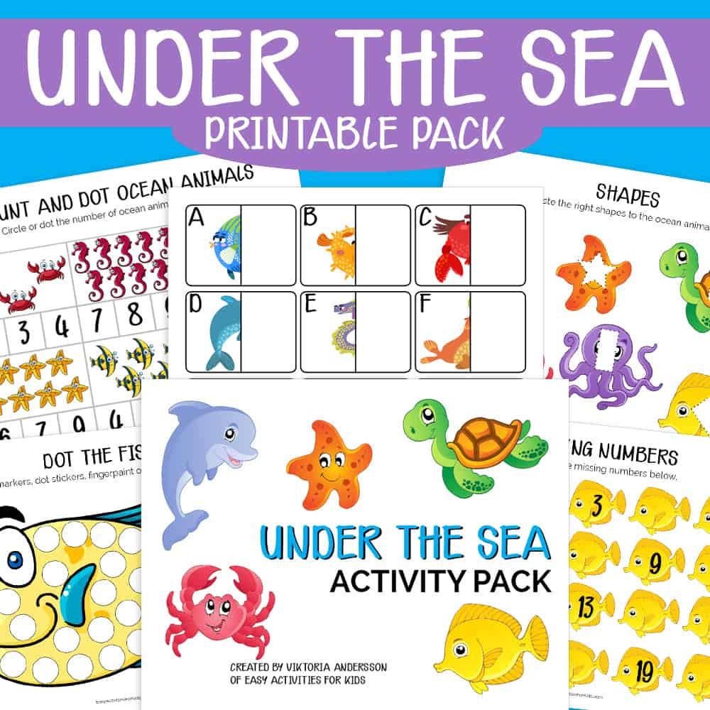 Under the sea free printable activitiy pack