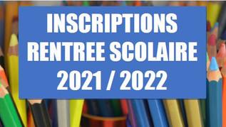 Rentrées scolaire 2021/2022