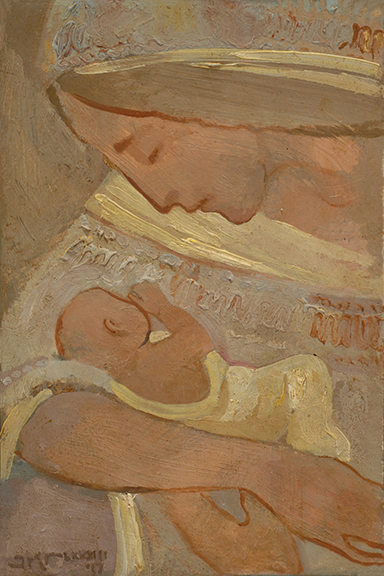 Mother and Child in Creme