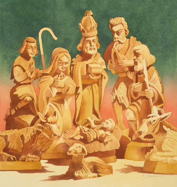 Nativity in Olive Wood