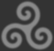 Triskelion grey swirl on dark background
