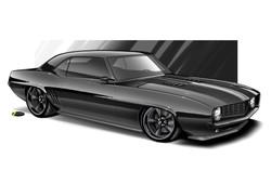 No Coast Custom Camaro rendering