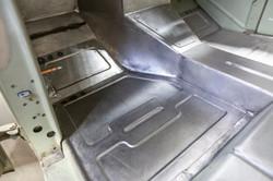 Custom stamped floor pans