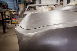 Metal trunk fin 69 pontiac firebird