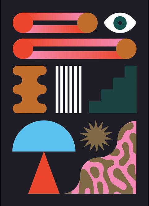 Combinazioni, Set da 4 cartoline