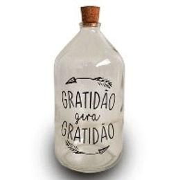 GARRAFA 16X8 FRASE GRATIDÃO GERA GRATIDÃO