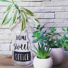 GARRAFA 16X8 FRASE HOME SWEET OFFICE