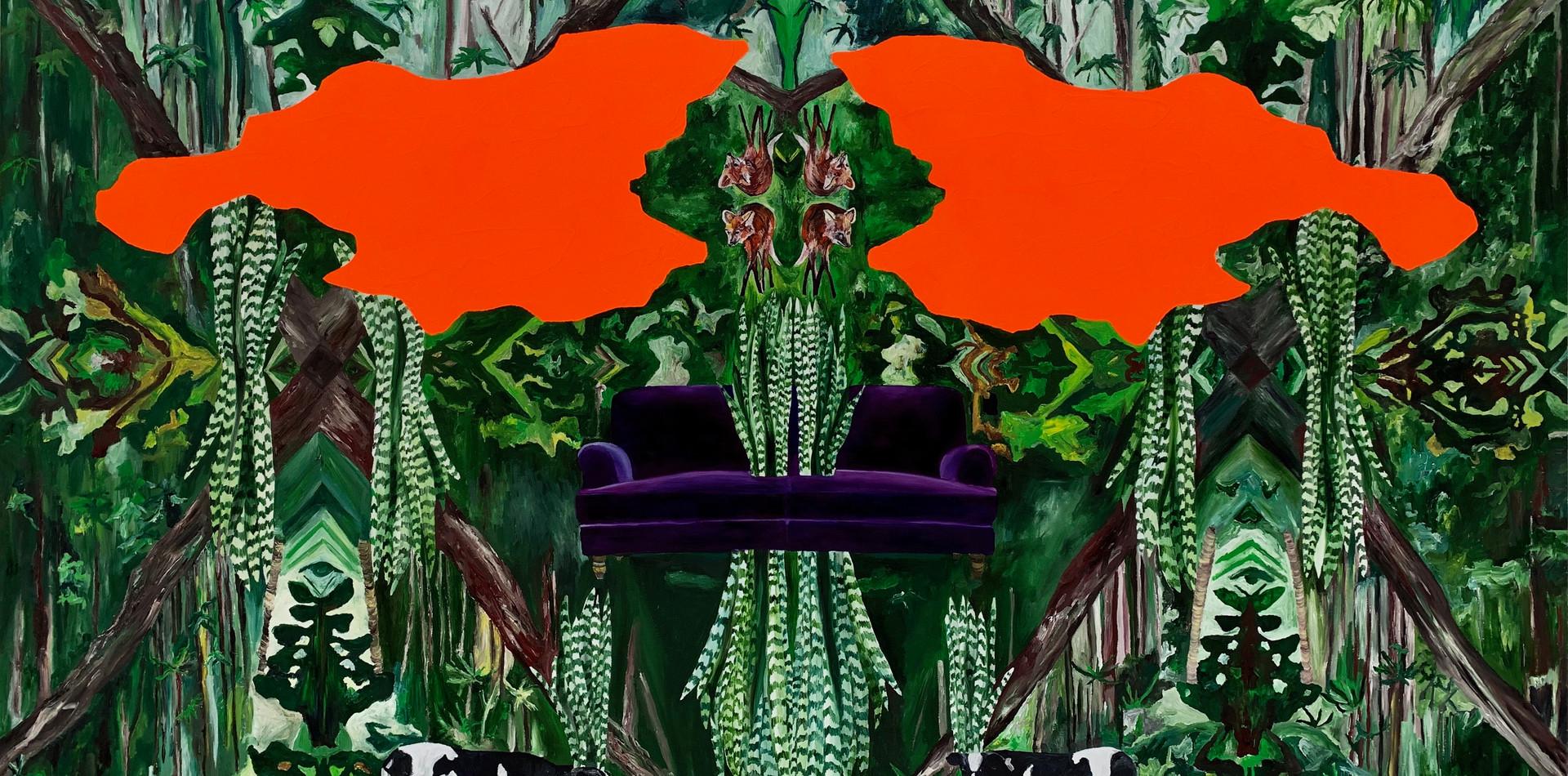 Paradise II   2019 Óleo e acrílica sobre tela 100x150cm