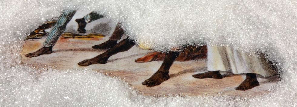 Refino #5 (pés) / Refino #5 (feet) | 2018 Fotografia / Photograph Pigmento mineral sobre papel de algodão /  Mineral pigment on cotton paper 22 x 30 cm Edição / Edition: 5 + 2 PA / AP