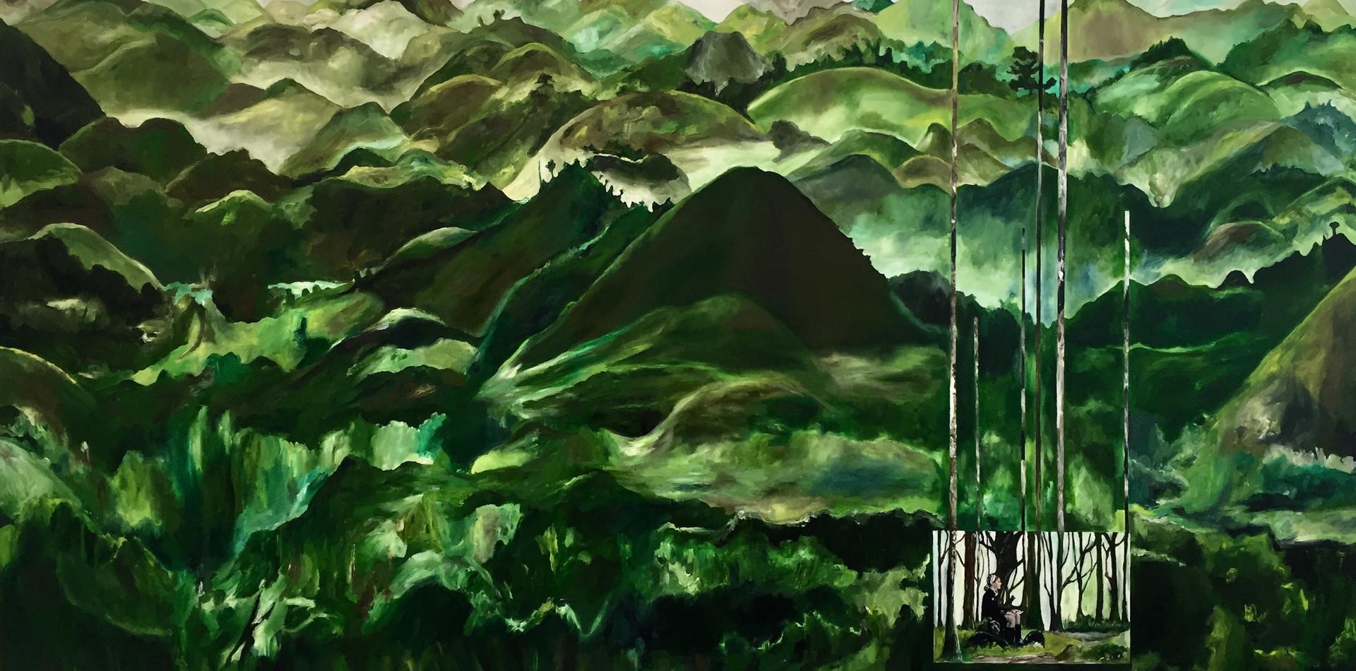 As Montanhas   2018 Óleo sobre tela/ Oil on canvas 150 x 100 cm
