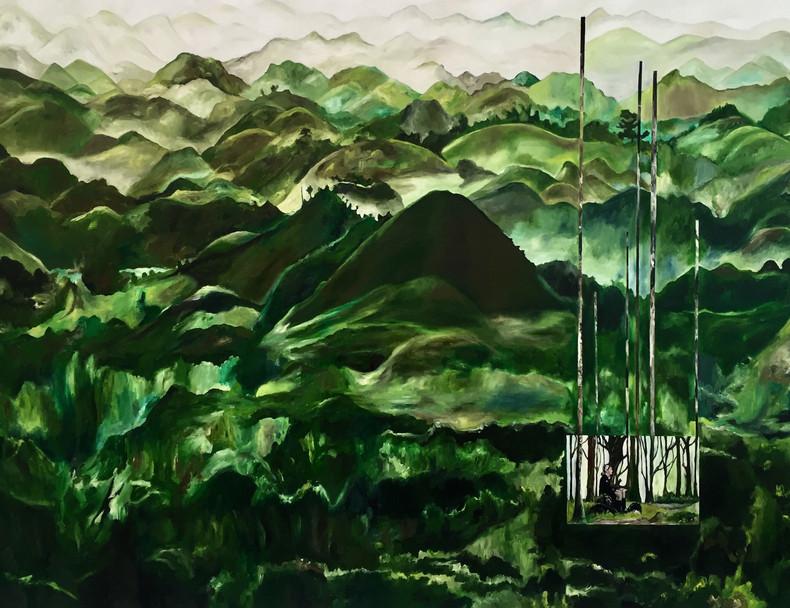 As Montanhas | 2018 Óleo sobre tela/ Oil on canvas 150 x 100 cm