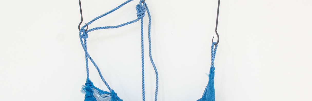IVENS MACHADO Sem título | 2005 Rede, cordas, gesso e aros de ferro 220 x 100 x 40 cm Cortesia Fortes D'Aloia & Gabriel, São Paulo | Rio de Janeiro