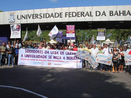 Servidores da Ufba entram em greve