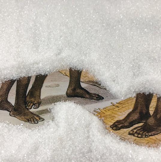 TIAGO SANT'ANA Refino #5 (pés) | 2018 Fotografia Pigmento mineral sobre papel de algodão / 22 x 30 cm Edição: 5 + 2 PA