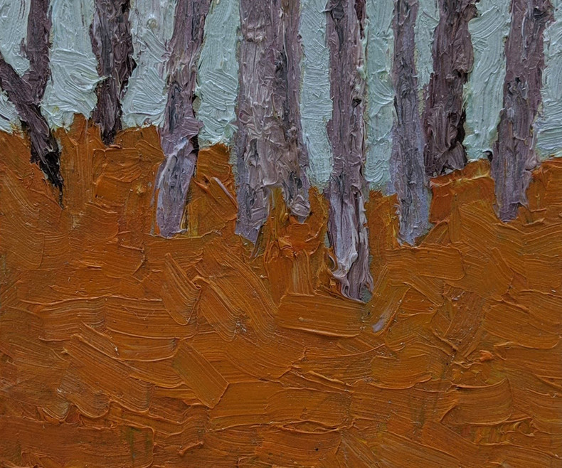Mini Floresta | 2018  Óleo sobre tela 20 x 20 cm