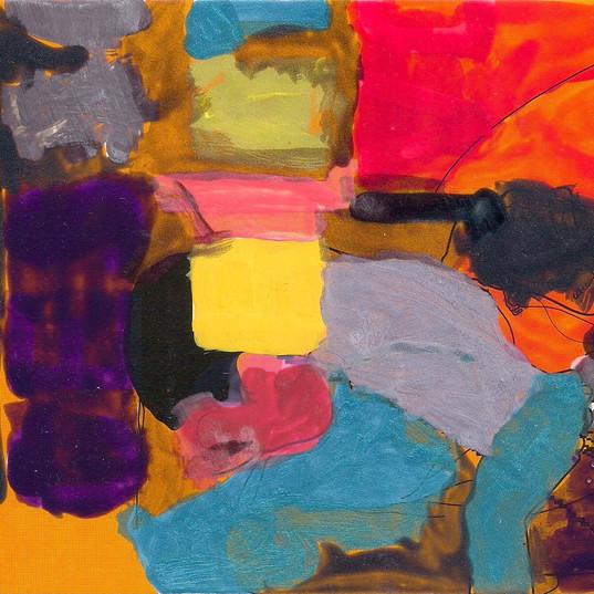 Pintura de esmalte, 2015 Esmalte de unha sobre papel 15 x 21 cm