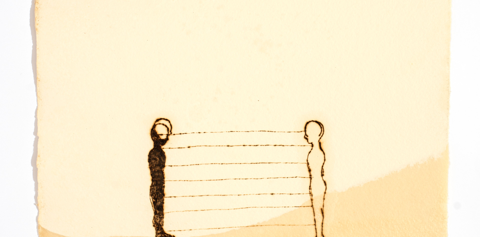Série Limiar 2 | 2018 Desenho em pirografia e parafina sobre papel 30 x 40 cm