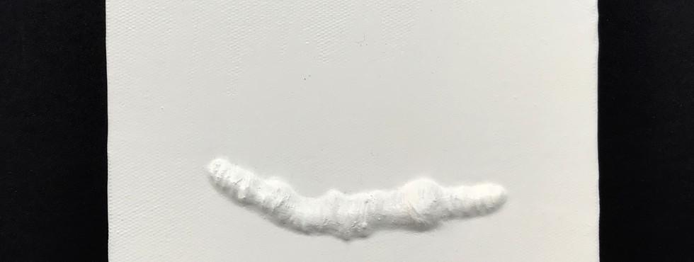 Sem Título | 2018 Conjunto de bordados sobre tela, tinta e massa corrida/ Embroidery set on canvas, ink and spackling 12 x 12 cm