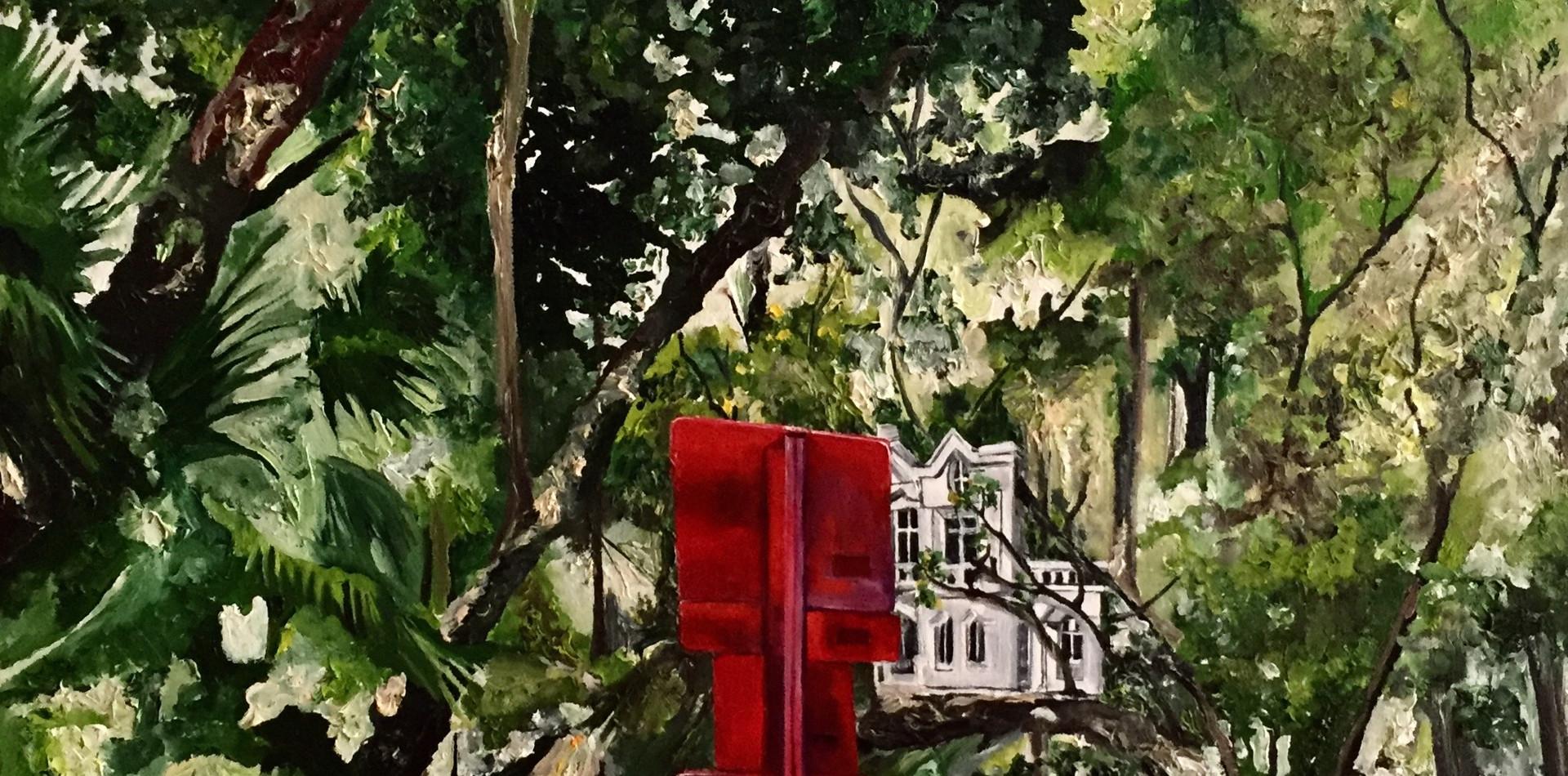 Floresta do Parque   2017 Óleo e tinta acrílica sobre tela/ ? 57 x 79cm