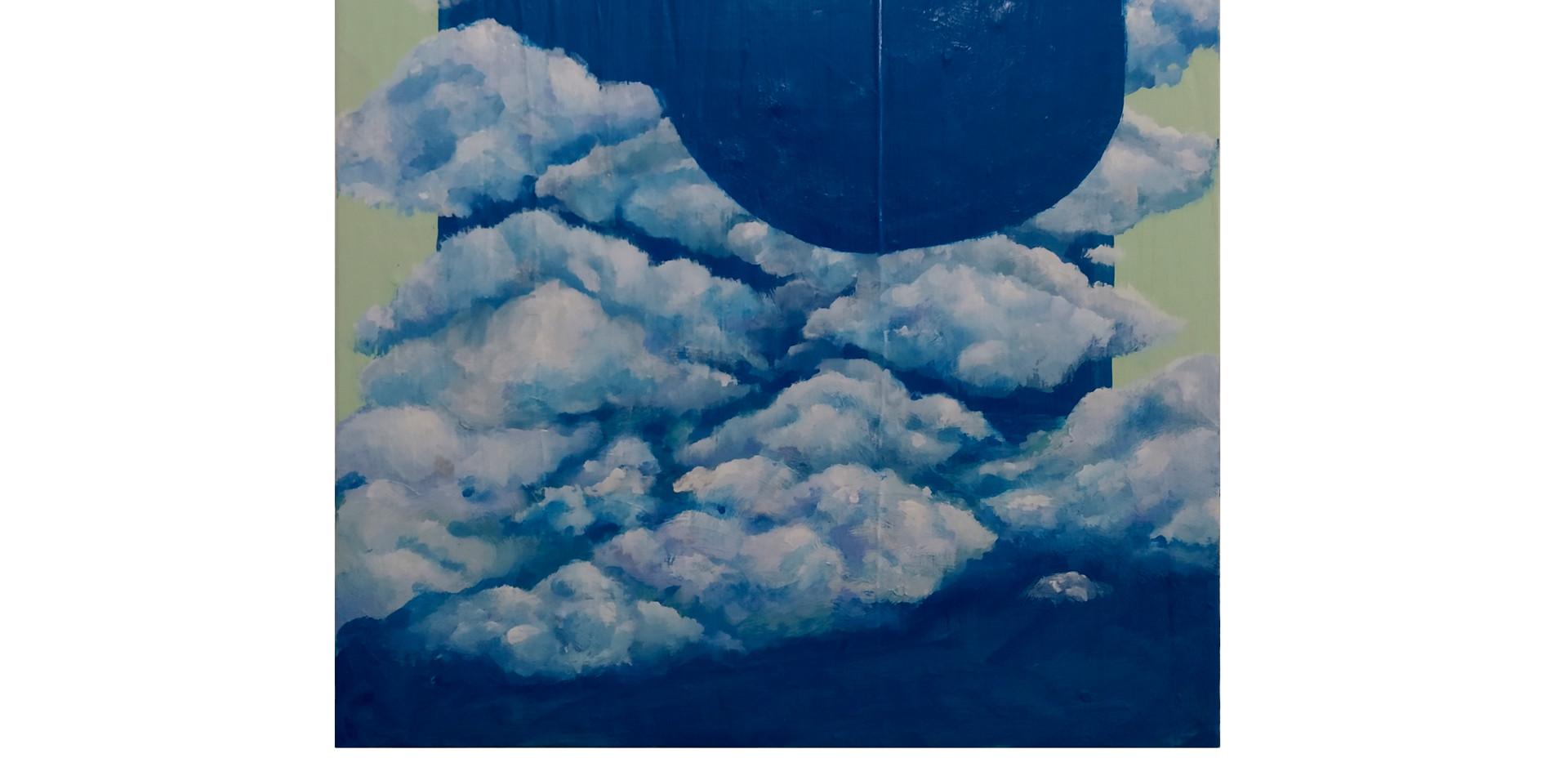 Série ponto de vista (Nublado) | 2020  Acrílica e argamassa sobre tela  37,5 x 46 cm
