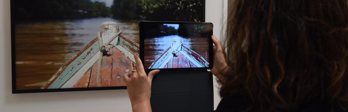 ROBERTA CARVALHO Ilha | 2019 Pigmento mineral sobre papel de algodão com intervenção de Realidade Aumentada. 82 x 52 cm Edição: 1/5 + 2PA