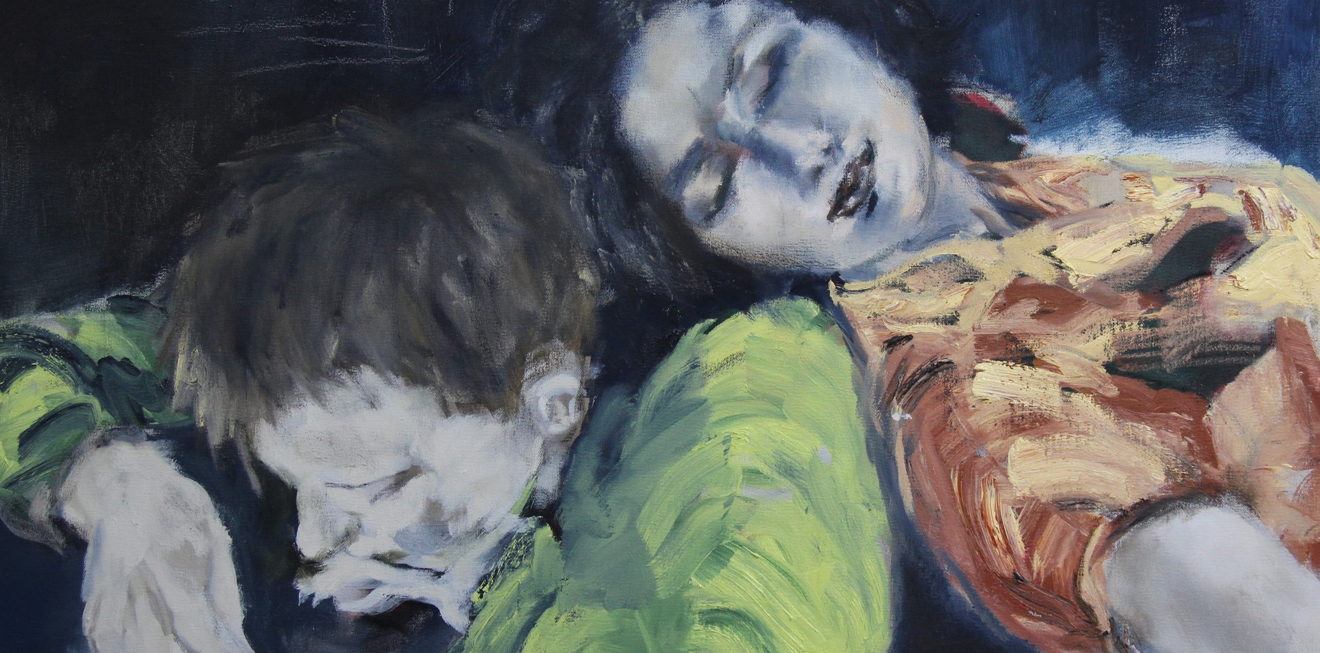 Verano | 2019 Acrílica, óleo e carvão sobre tela / Acrylic, oil and charcoal on canvas 66 x 100 cm
