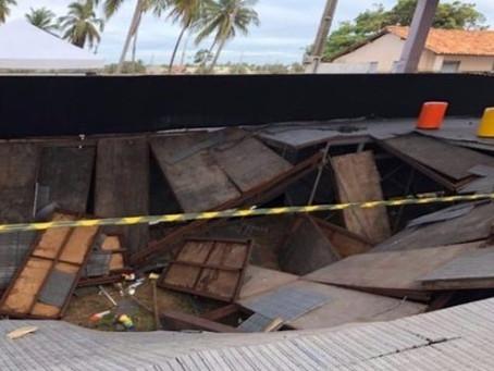 Camarote desaba durante show de Ivete em Aracaju. Veja o vídeo