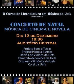 Concerto de Natal da UEFS acontece na próxima terça-feira (12)