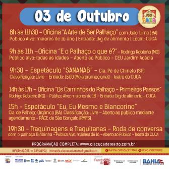 Fenatifs tem apresentação em São Gonçalo no seu terceiro dia de programação