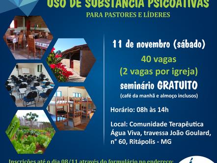 Água Viva realiza seminário sobre Uso de Substâncias Psicoativas
