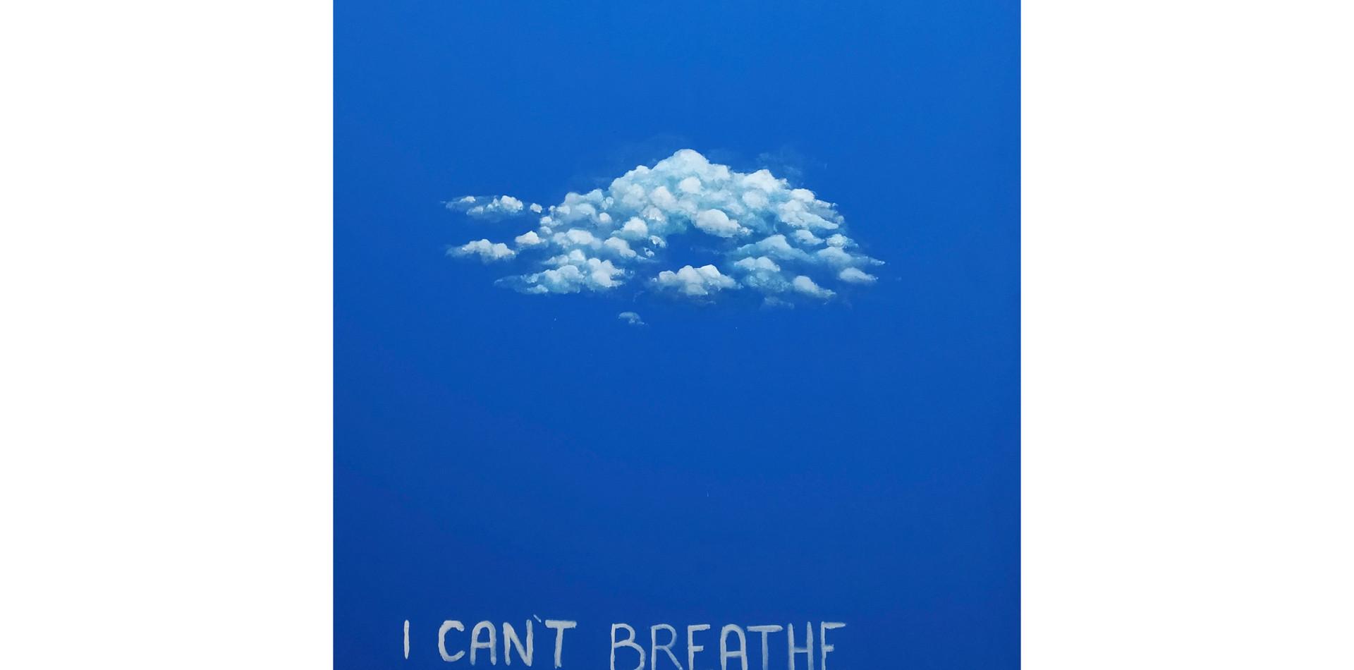 Respirar -Breathe | 2020  Acrílica e argamassa sobre tela  85 x 100 cm
